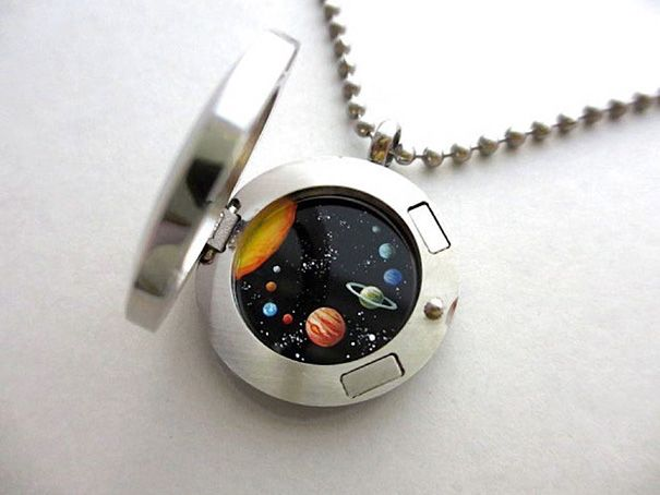 Miniature Astronomy Lockets That Hide The Universe Inside Cosmic