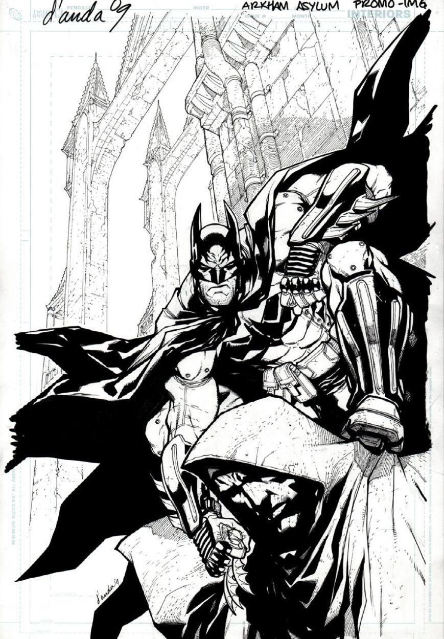 Batman: Arkham Asylum promo by Carlos D'Anda