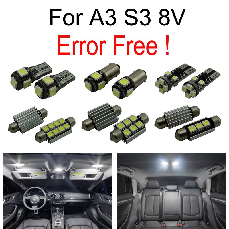 15pc X LED Bulb Interior Light Kit Package For Audi A3 S3
