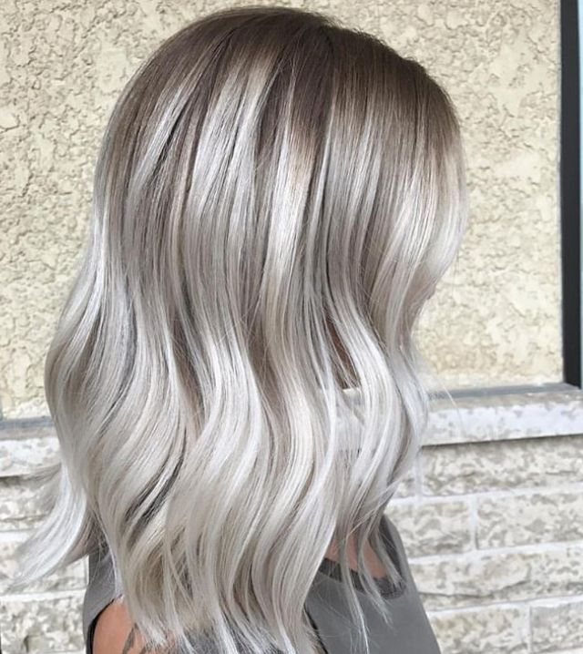 Cool Ash Blonde Balayage Hair Color For Women Silver Blonde