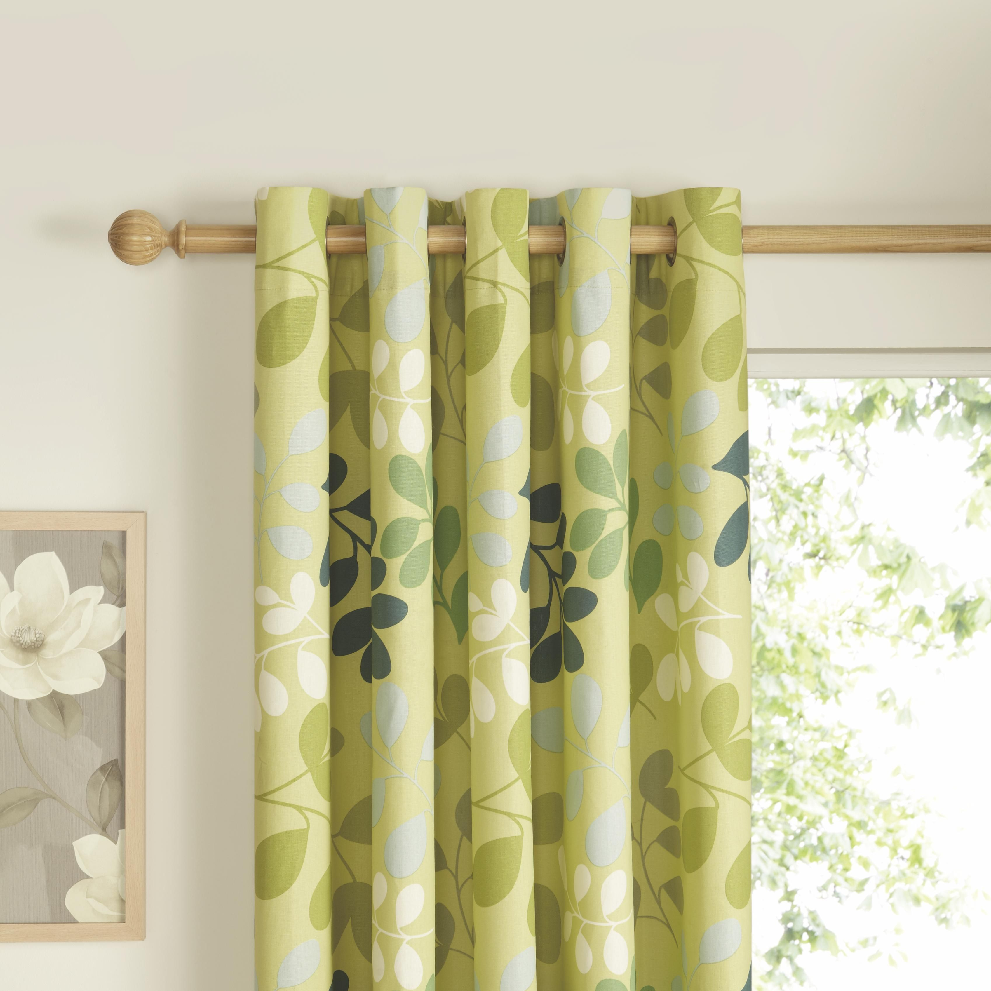 Lemongrass and lime create a fresh and crisp look in any room. Match these  Syldavie leaf print curtains with neutral paint such as Rice Cake by  Colours for ...