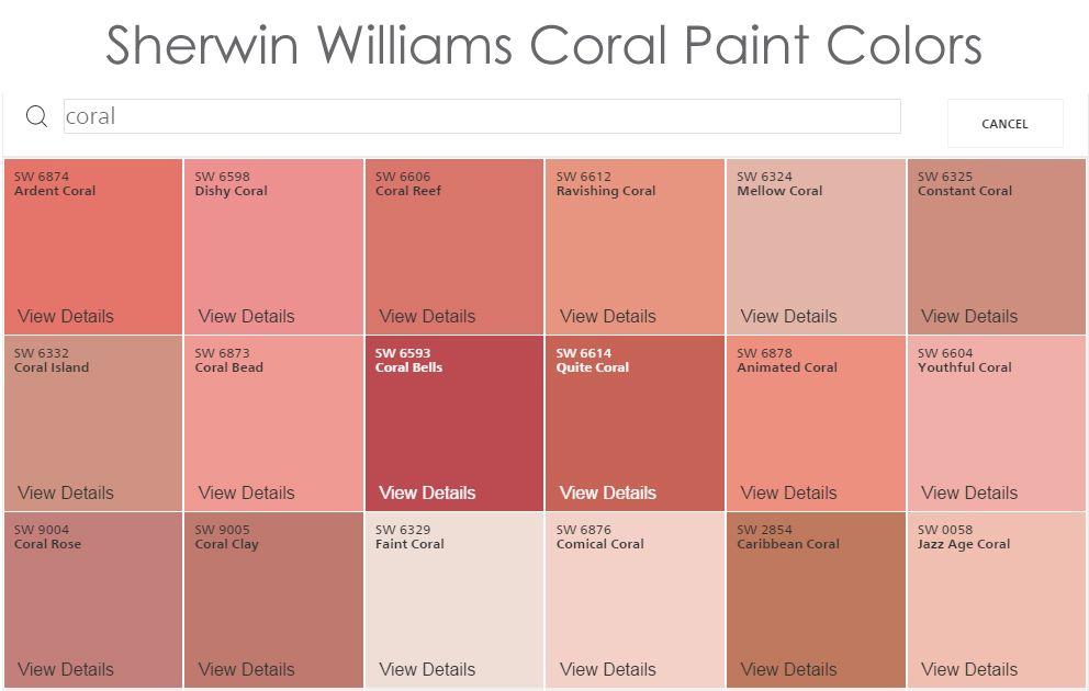 Coral Pink Paint Color Novocom Top
