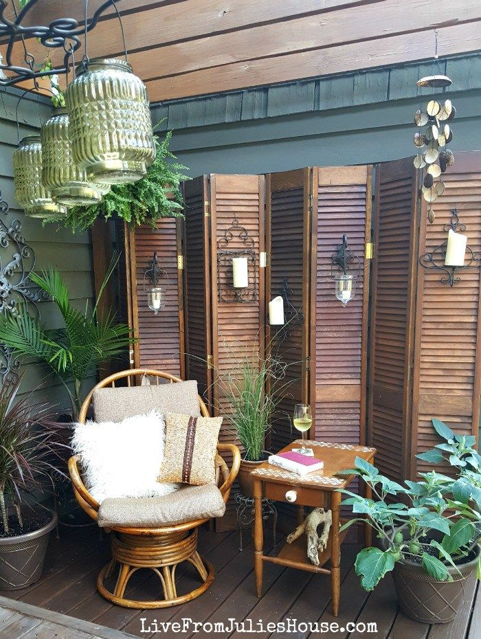 Boho Style Decorative Screen Thrift Store Upcycle