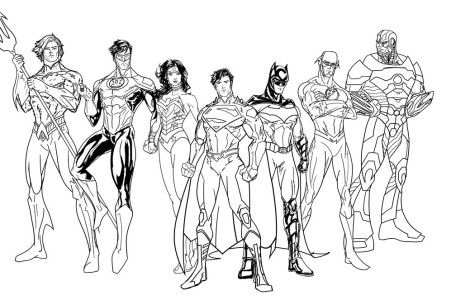 justice league Coloring Pages | Projects to Try | Pinterest ...