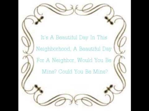 Mr  Roger's Neighborhood Theme Song Lyrics - YouTube