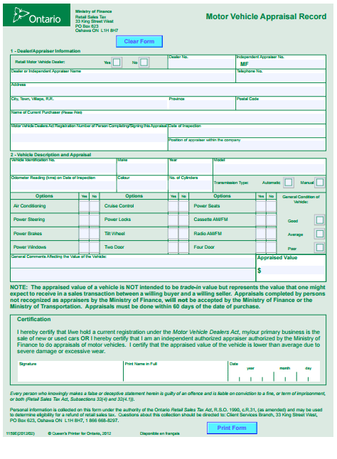 Car Appraisal Forms Word Excel Fomats (With images