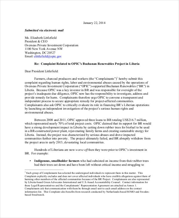 business letter complaint 28 images sle business News to Go 2