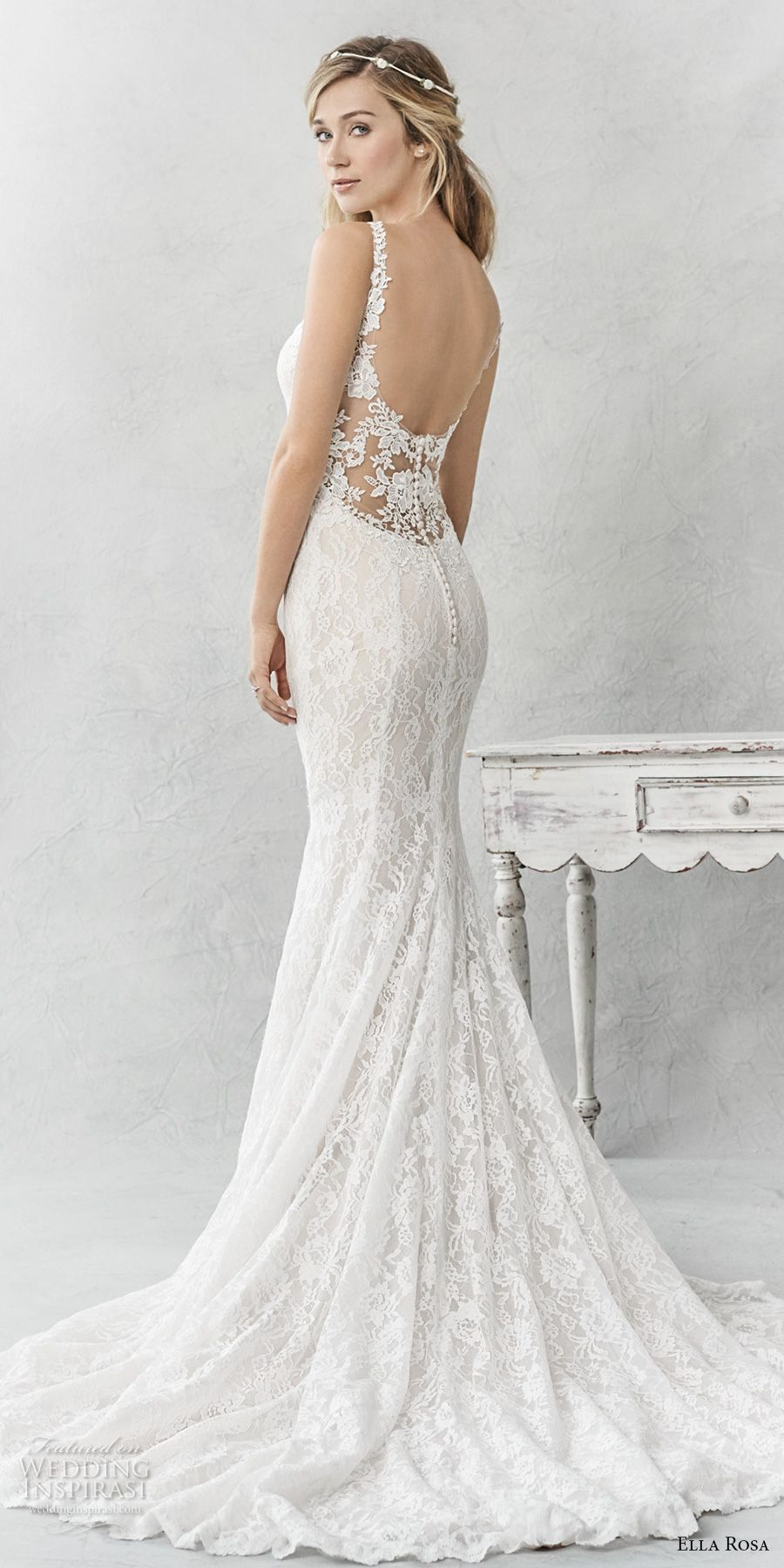 Ella Rosa Spring 2017 Wedding Dresses | Chapel train, Wedding dress ...