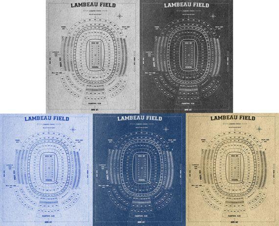 Lambeau field football stadium print blueprint on by clavininc lambeau field football stadium print blueprint on by clavininc malvernweather Images