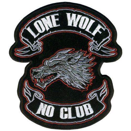Embroidered Patch Iron Sew Logo LONE WOLF SPORTS RACING BADGE MOTORCYCLE BIKER