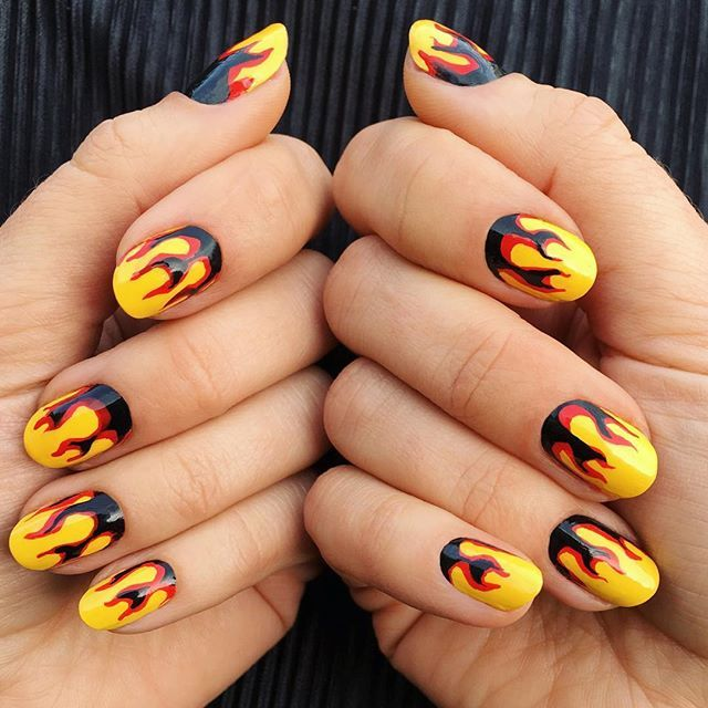 Vroom Manually Turning Up The Heat Using All Deborahlippmann Colors Nail Ideas In 2018 Pinterest Nails Art And Flame