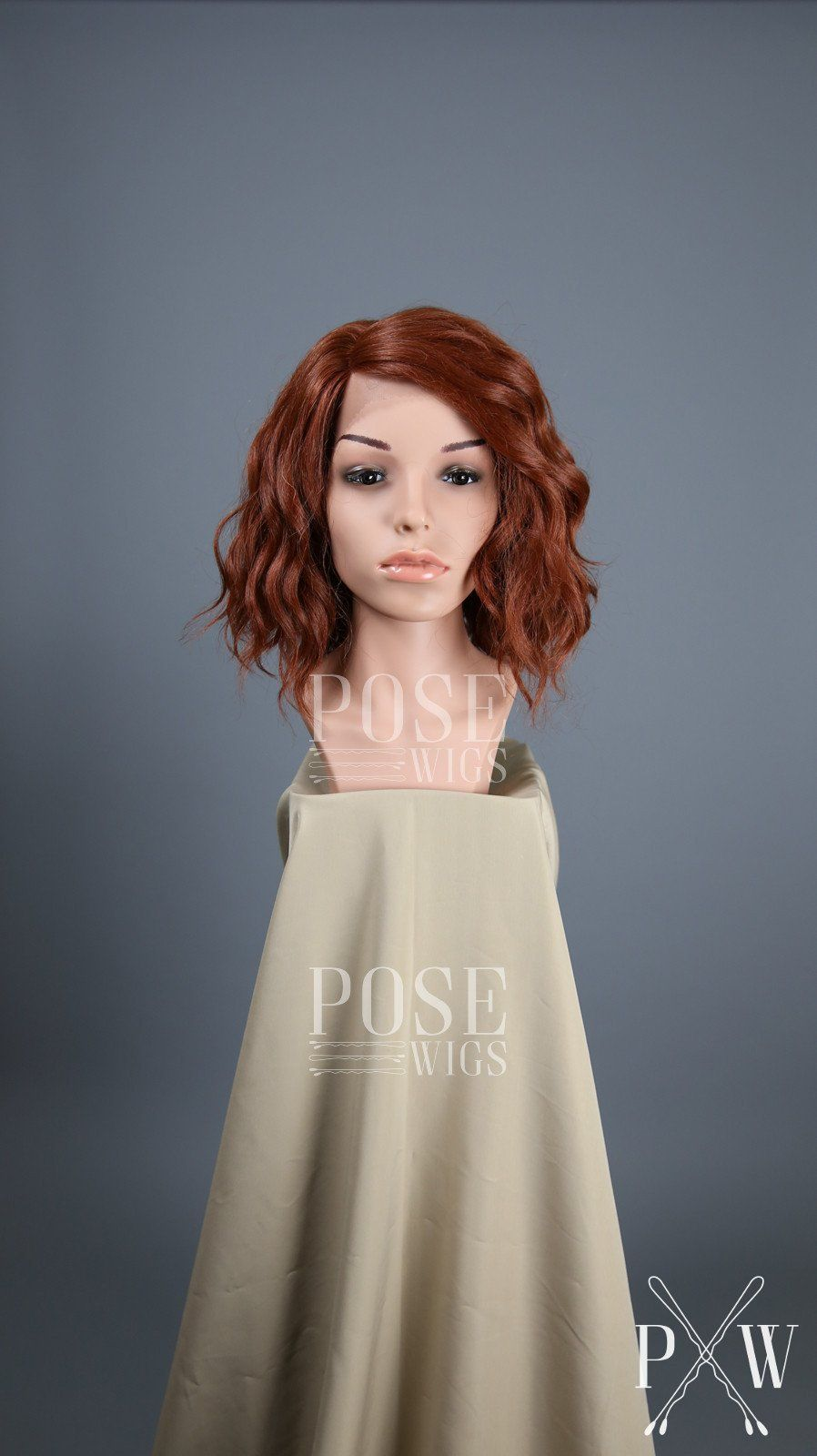 Red short curly bob lace front wig lady series llpea bobs