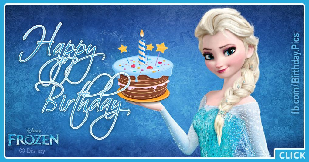 elsa getting frozen cake for your birthday  happy