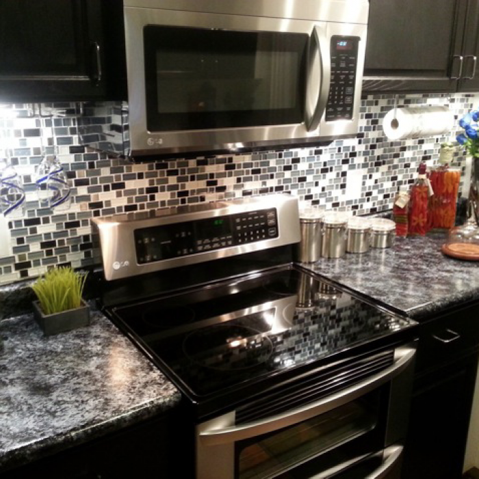 The Countertops Are Paint Love The Look Bombay Black Giani