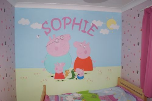 peppa pig wall mural Flowers 2 Flowers 1 Chinese Dragon Mime