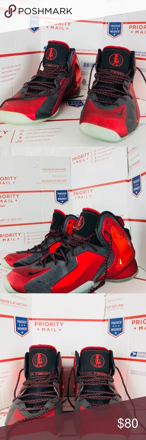 54696aaff42 Nike Lil Penny Posite University 630999 600 Sz 9.5 Used Men Nike Lil Penny  Posite University 630999 600 Red Black Basketball Sz 9.5 Nike Shoes  Athletic ...