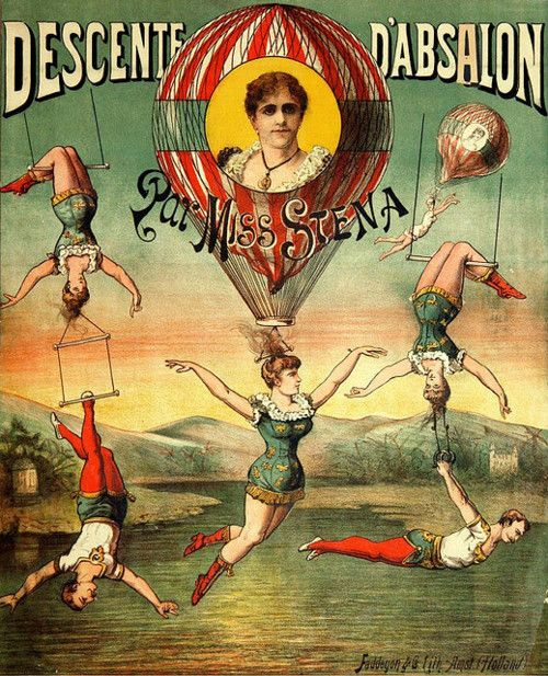 French Vintage Circus Poster Love Illustration On Photos