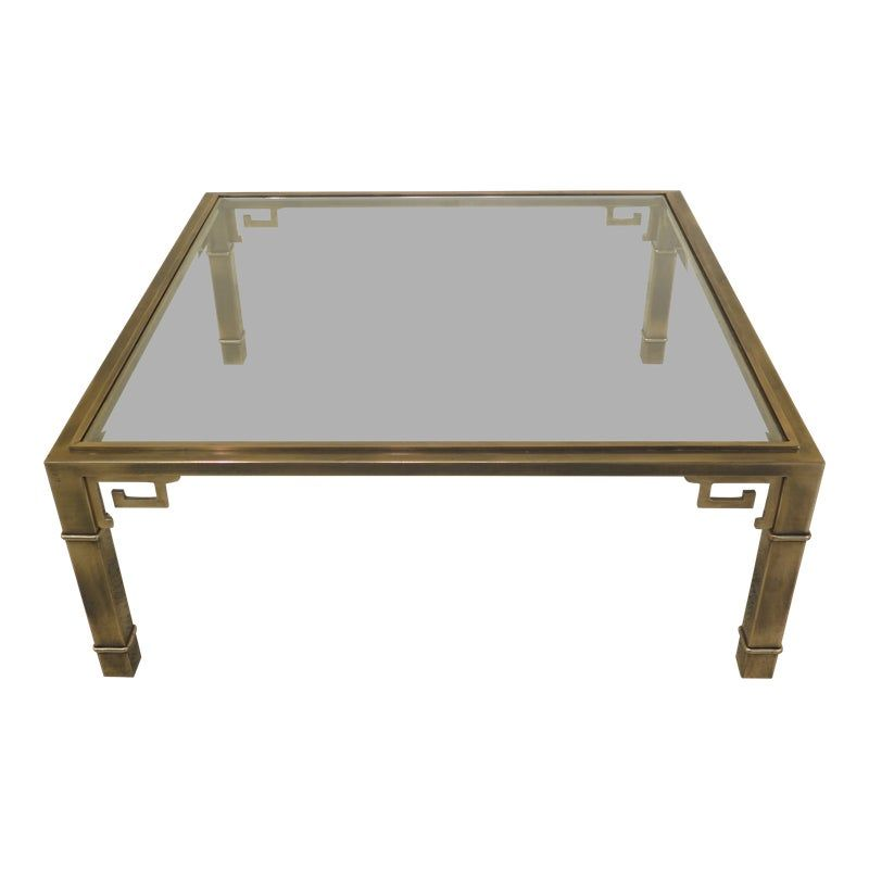 1970s Chippendale Style Solid Brass Glass Coffee Table In 2019 Glass Table Table Table Furniture
