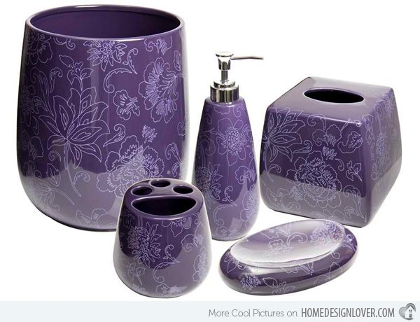 15 Elegant Purple Bathroom Accessories Home Design Lover Purple Bathrooms Purple Bathroom Accessories Purple Bathroom Decor