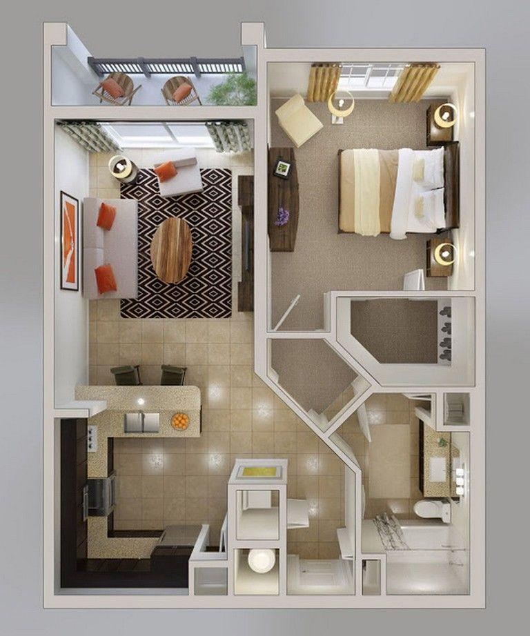 60 Simple And Stylish Studio Apartment Decorating Ideas Apartmentfloorplans Chertezhi Doma Plan Doma Kvartirnye Idei