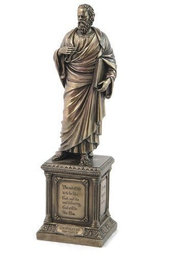 Socrates unexamined life ancient greek philosopher statue 145h fandeluxe Image collections