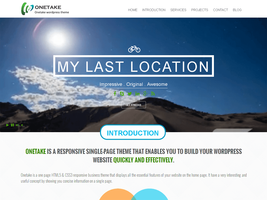 33 best free one page parallax wordpress themes 2016 wordpress 33 best free one page parallax wordpress themes 2016 cheaphphosting Image collections
