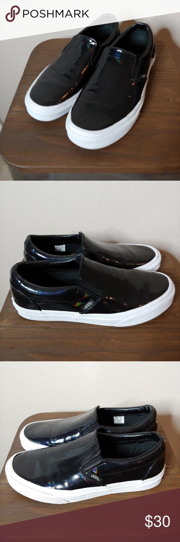 Vans Slip On Sneakers Patent Black