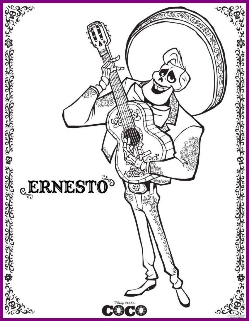 Disney Coloring Pages Coco Ernesto Disney Pixar Disney Pixar