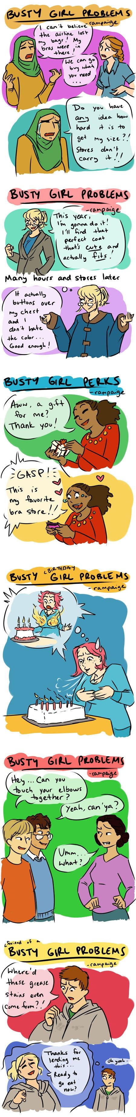Busty girl problems.