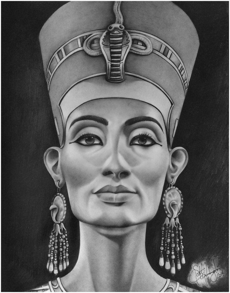 Black Nefertiti Drawing : black, nefertiti, drawing, Queen, Nefertiti, Tattoo, Drawing, Tattoo,, Egyptian, Tattoos,