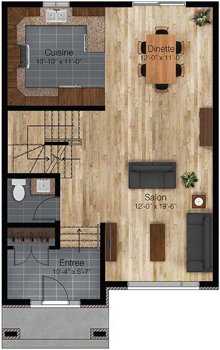 Plan Vertigo A rez-de-chaussée Maison Pinterest Vertigo