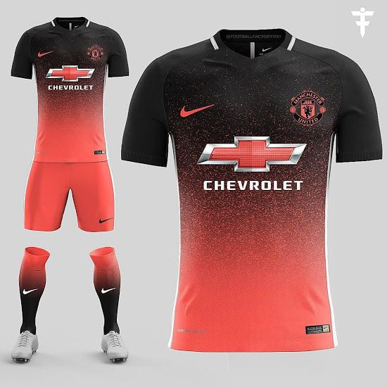huge selection of 0cdd6 3b2d1 FootballFactory's Manchester United kit concept features a ...