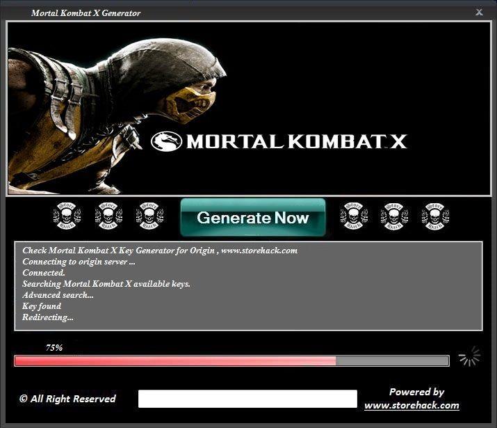mortal kombat x keygen online