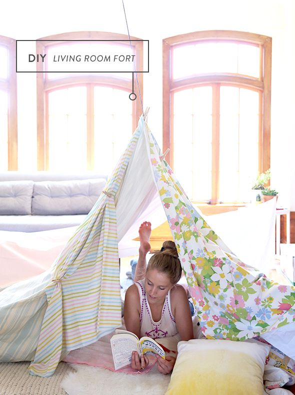 How to build a living room fort craft diy swing - Living room home decor fort langley ...