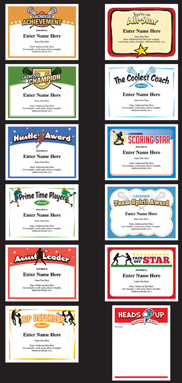 Lacrosse certificates templates lacrosse team player and certificate lacrosse certificates templates awards for boys and girls yelopaper Gallery