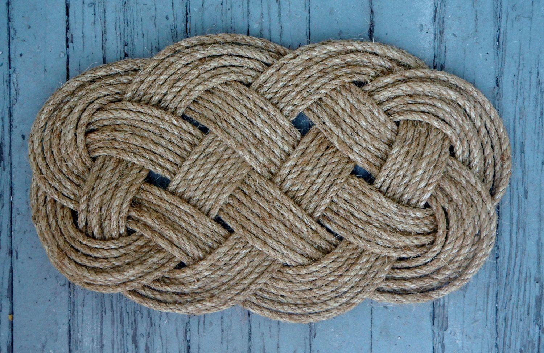 Nautical Knot Ocean Plait/Celtic Knot Door Mat. $65.00, Via Etsy.