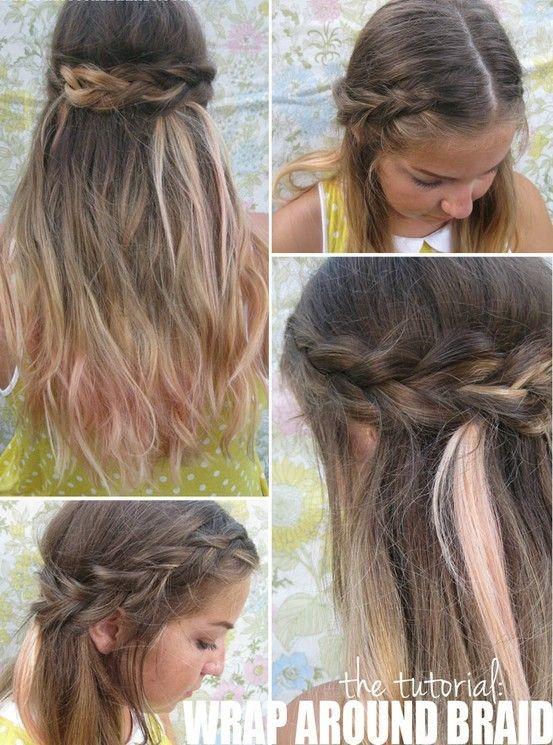 How to Make Wrap Around Braid ? · Women Hairstyles