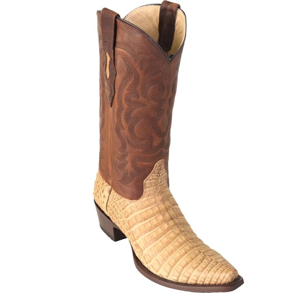 e7956601033 Los Altos Men's Snip Toe Caiman Belly Handcrafted Mens Boots Greasy ...