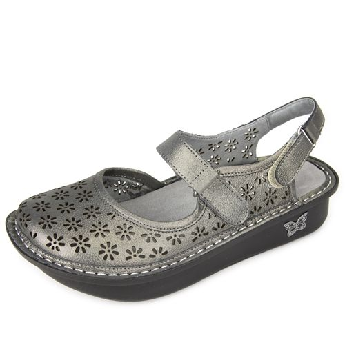 Alegria Shoes Jemma Pewter Easy Sandal | FREE Shipping!