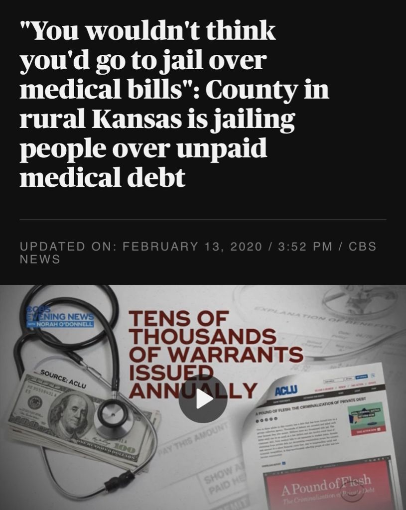You wouldnt think youd go to jail over medical bills
