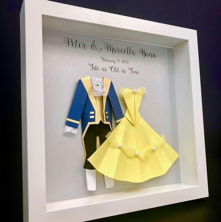 Die Schone Und Das Biest Hochzeitsgeschenk Erstes Jubilaum Papier Jubilaumsgeschenk Disney Geschenk Belle Und Das Biest Braut Brautigam Wandkunst Mit Bildern Disney Geschenk Diy Hochzeitsgeschenk
