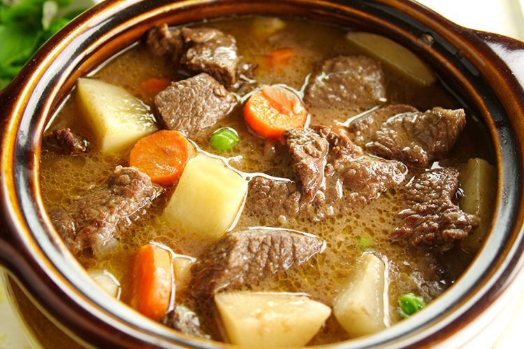 Slow Cooker Thick And Chunky Beef Stew A Warm Comforting Recipe Recipe Slow Cooker Beef Chunky Beef Stew Recipes