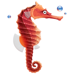 256 X 256 Pixel Seahorse Png Icon Beneath The Sea Funny Drawings Icon