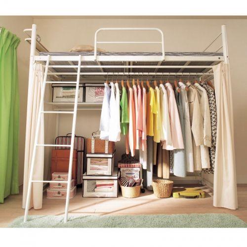Loft Bed Amp Closet Home Designs Bed In Closet Loft