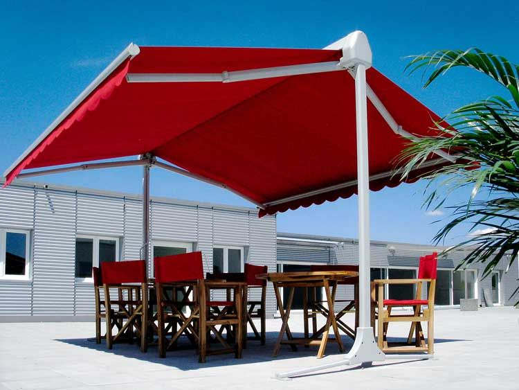 Double Side Retractable Awning Mohan Awnings In 2020 Backyard Pergola Patio Outdoor Decor