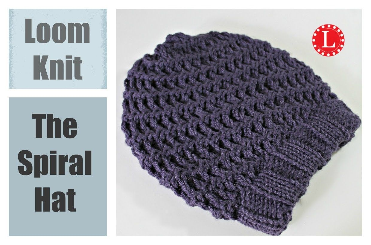 Knitting A Hat On A Round Loom : Loom knitting hats spiral stitch learn the u wrap and e