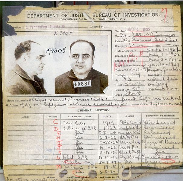 al capone s criminal record in al capone  al capone s criminal record in 1932
