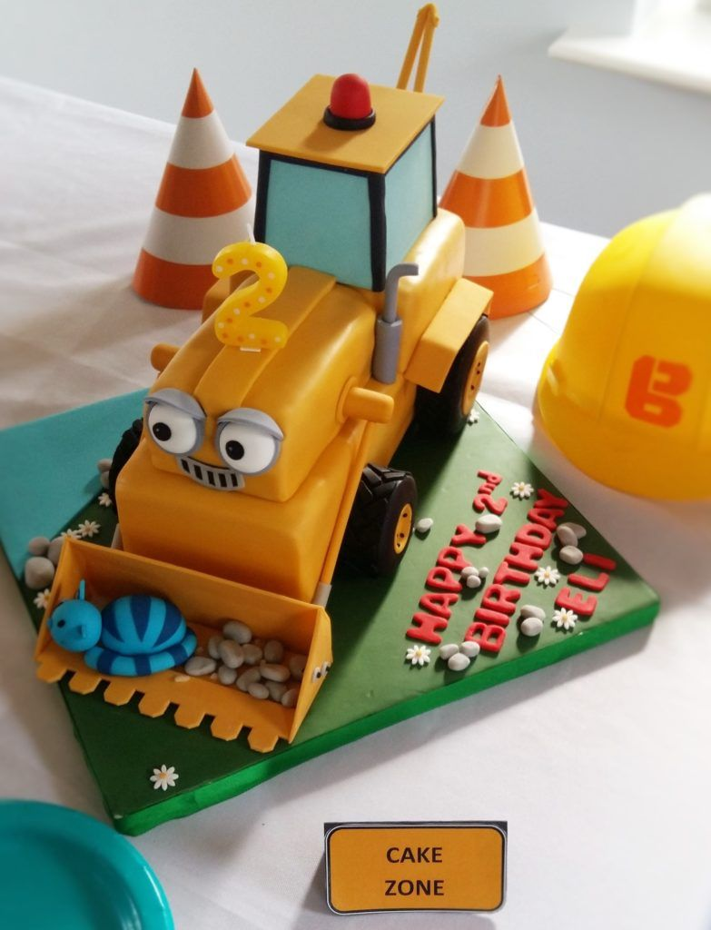 Construction Themed Birthday Party Elis Bob The Builder 2nd Constructionpartyideas