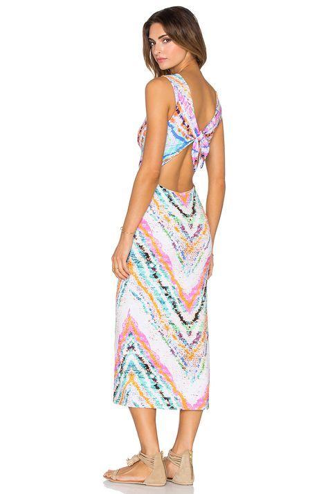 b3c1ef29a7 MARA HOFFMAN Modal Tie Back Midi Dress in Rainbow | Add it to your ...