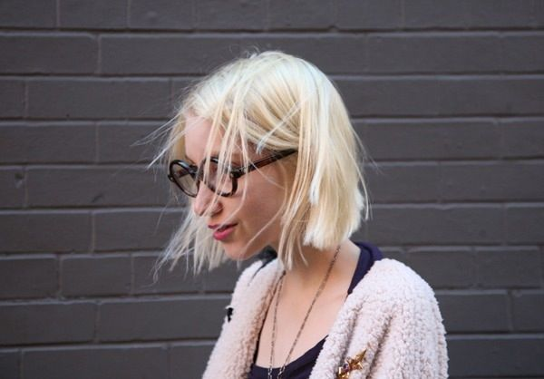 Blonde Bob With Glasses In 2019 Hair Hair Styles Short